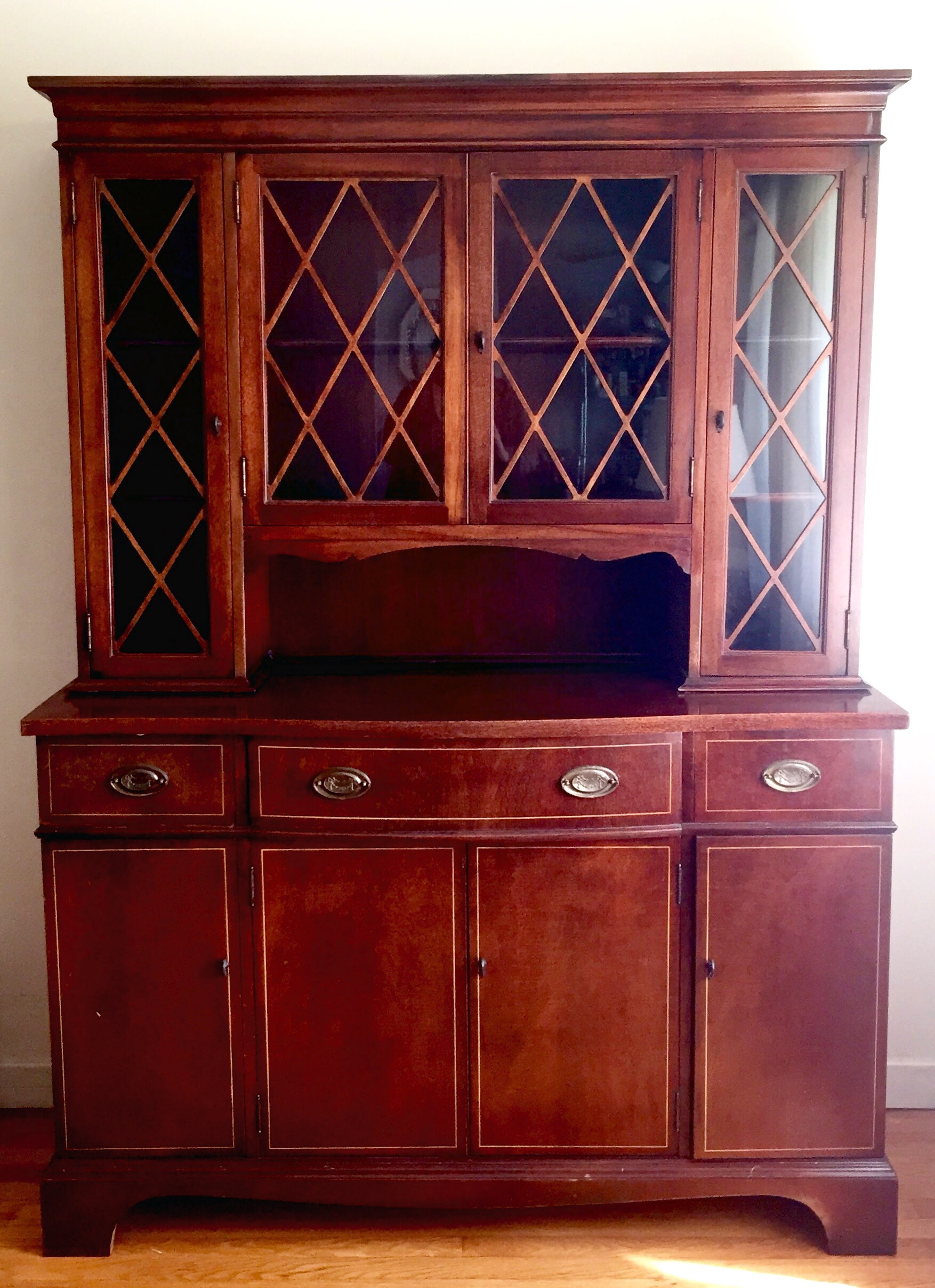 This Is The Cabinet Before Refinishing: